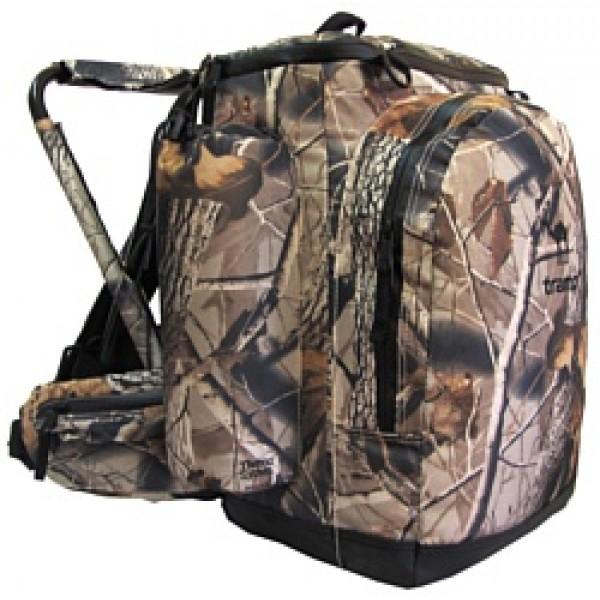 Рюкзак Tramp Forest 40 camoРюкзак Tramp Forest Camo 40 - прочный, функциональный рюкзак, объемом 40 л. Идеален для рыбаков, охотников и любителей загородного отдыха. Создан из качественного материала Polyester 1000D PU. Допустимая нагрузка 120 кг. Рюкзак имеет следующие особенности: эргономичную систему фиксации, прочное, мягкое сиденье размер 20,5 см х 23 см, водонепроницаемое дно и молнии, грудные стяжки. Есть множество карманов: карман для мобильного телефона на плечевом ремне, термокарман для фляги с водой, карман на поясном ремне и функциональные карманы внутри рюкзака.<br>