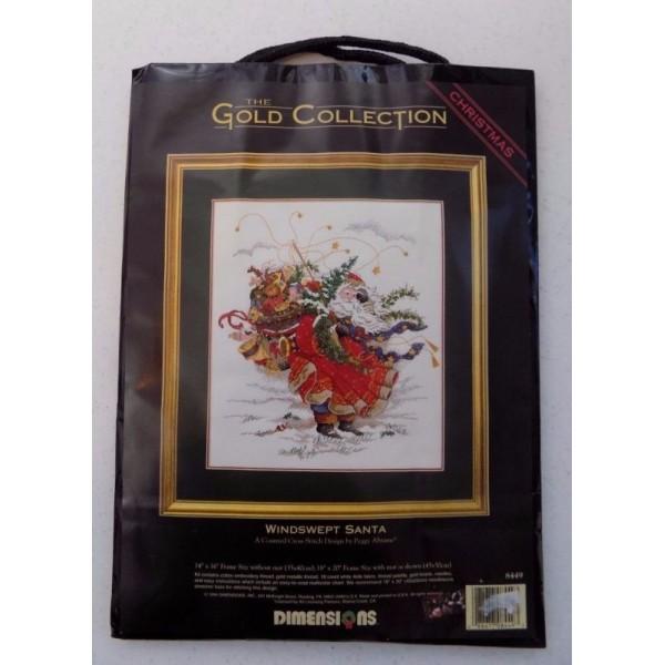 Dimensions Windswept Santa (Красный Санта).8449 СШАНабор для вышивания Dimensions 8449 Windswept Santa (Красный Санта)<br>