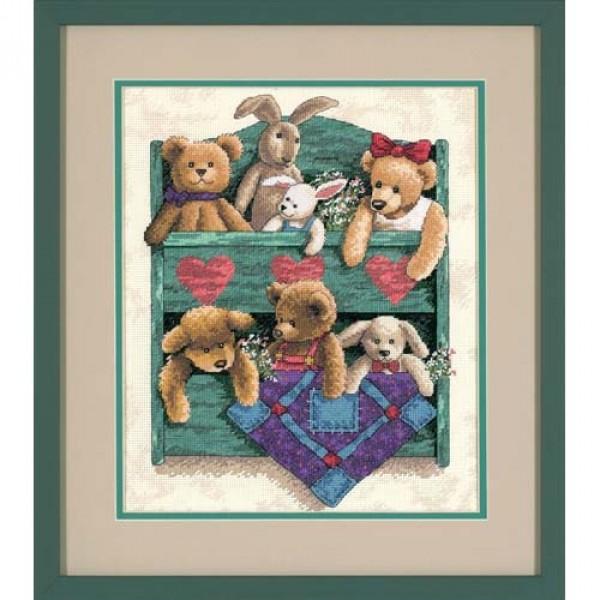 Sunset Animal Shelf (Шкаф с животными).13684 СШАНабор для вышивания Sunset 13684  Animal Shelf (Шкаф с животными)<br>