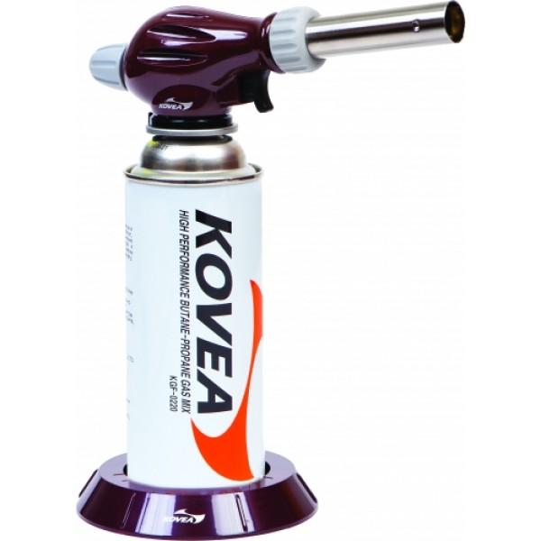 Резак газовый Kovea Auto KT-2912Газовый резак KT-2912 Cook Master Torch - резак средней мощности разработанный специально для нужд кулинаров, но способный выполнять и технические работы. Оборудован мульти-регулировкой для тонкой регулировки газовой струи и имеет пьезоподжиг. Температура пламени может достигать 1300 °C. Газовый резак оборудован системой предварительного разогрева газа, что позволяет свободно вращать резак для комфортной работы, сохраняя при этом стабильный поток пламени. Газовый резак рассчитан для работы с высоким цанговым газовым баллоном Kovea KGF-0220, не подходит для работы с баллонами резьбового стандарта, так как не предусмотрена установка переходника.<br><br>Вес кг: 0.10000000