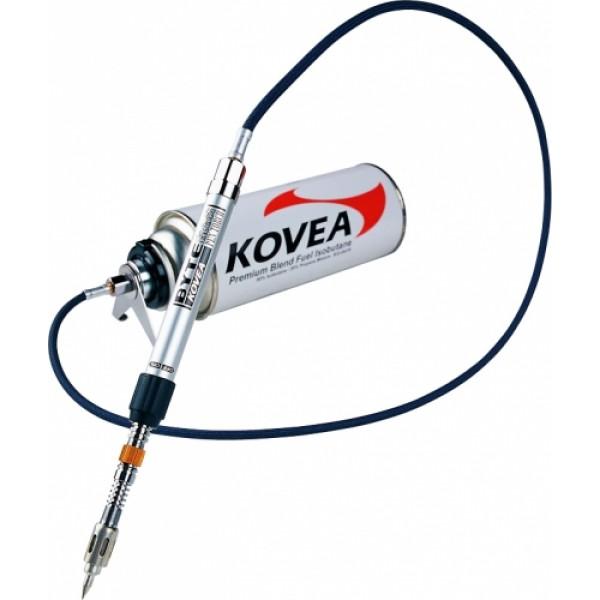 Паяльник газовый Kovea KT-2202 со шлангомГазовый паяльник KT-2202 Hose Pen Torch - оригинальный компактный газовый паяльник оборудованный паяльной насадкой, шлангом и насадкой на цанговый газовый баллон Kovea KGF-0220. Создан для тонких паяльных работ вдалеке от электричества. Газовый паяльник очень популярен в среде ювелиров, стендовых моделистов, авиамоделистов и других мастеров, для которых имеет значение тонкое аккуратное высокотемпературное пламя. Если снять паяльную насадку, температура направленной струи пламени, длинной 4 сантиметра, может достигать 1300 градусов.<br><br>Вес кг: 0.20000000