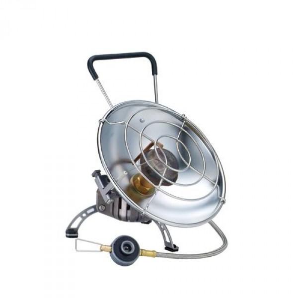 Обогреватель газовый Kovea KH-0710Уникальный инфракрасный газовый обогреватель со шлангом с возможностью приготовления пищи. Газовый обогреватель зажигается с помощью пьезоподжига. В приборе предусмотрено два положения отражателя: наклонное – для обогрева и горизонтальное – для приготовления пищи. Оба положения жестко фиксируются крепежным болтом, при этом исключается возможность изменения положения отражателя и опрокидывания кастрюли при готовке. Сетка отражателя достаточно частая, чтобы готовить еду или кипятить воду даже в кружке или турке. Для более стабильной работы газового обогревателя на холоде в конструкции газового обогревателя предусмотрена Anti-Flare System – система предварительного подогрева газа.<br><br>Вес кг: 0.60000000