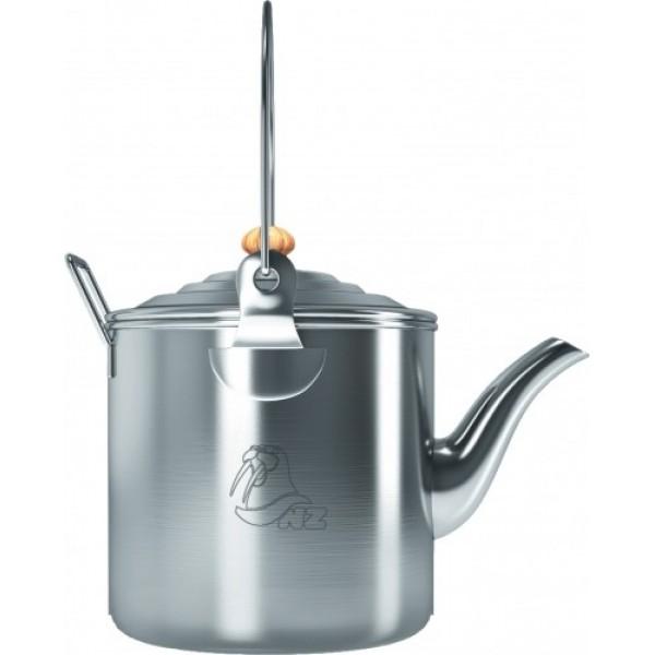 Чайник костровой 2 л. NZ SK-033Костровой чайник N.Z. на 2л., имеет складные ручки, удлиненный носик, сделан из тонкостенной, пищевой нержавеющей стали, которая обеспечивает прочность чайнику и быстрый подогрев воды.<br><br>Вес кг: 0.50000000