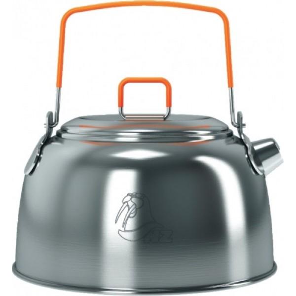 Чайник 0,8л NZ SK-044 (нерж.)Легкий чайник N.Z. имеет складные ручки и съемное ситечко, сделан из тонкостенной, нержавеющей стали, которая обеспечивает прочность чайнику и быстрый подогрев воды на любой горелке.<br><br>Вес кг: 0.30000000