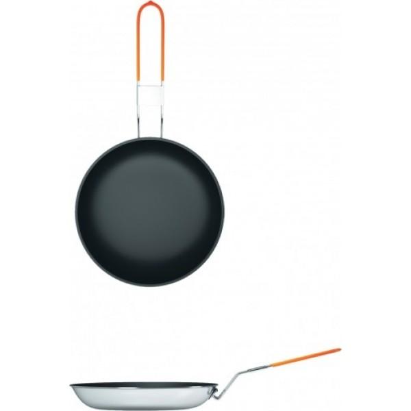 Сковорода 24см NZ FP-097 Non-Stick (алюм)Туристическая сковорода NZ сковорода диаметром 24 см. Это самый популярный размер для небольшой компании. Удобная длинная складная ручка и антипригарное Non-Stick покрытие позволят управляться с ней с ловкостью и удобством, жарите ли вы рыбу, яичницу или просто подогреваете пищу на углях или на костре. Яркий, не пропускающий сажу чехол будет всегда заметен среди других вещей.<br><br>Вес кг: 0.50000000