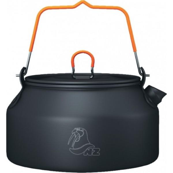 Чайник 0,9л NZ AK-118 (анод. алюм.)Очень легкий чайник N.Z., имеет складные ручки, покрытые не нагревающимся пластиком, специальная форма носика препятствует разбрызгиванию воды, отличный дизайн. Чайник сделан из анодированного алюминия и весит всего лишь 140 гр<br><br>Вес кг: 0.20000000