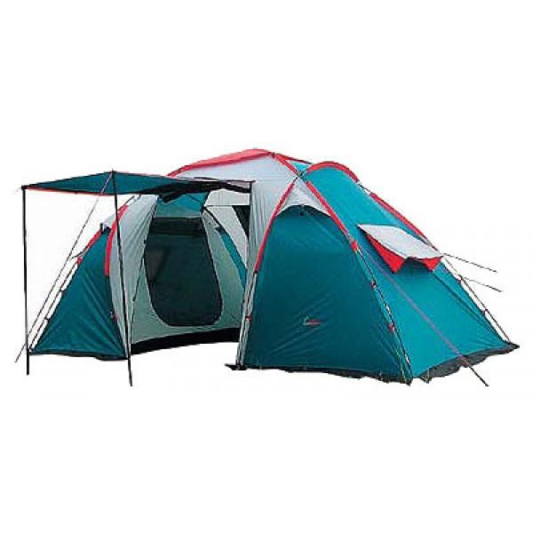 Палатка Canadian Camper SANA 4 (цвет royal) кемпинговаяДвухслойная четырёхместная кемпинговая палатка. Палатка имеет две двухместные спальные комнаты, разделённые просторным центральным тамбуром. В одной из комнат Вы можете уложить спать детей, а в другой наслаждаться отдыхом со своей прекрасной половиной. Конструкция палатки позволяет оптимально организовать внутреннее пространство, так как возможна установка одного тента, одной или двух спален под ним. Семь вентиляционных окон и два входа с антимоскитными сетками по всей площади обеспечат комфорт даже в очень жаркий летний день. Дверь тамбура можно использовать как дополнительный козырёк над входом. Для предотвращения проникновения насекомых палатка имеет юбку по всему периметру. Палатка выпускается в двух цветовых решениях - ROYAL и WOODLAND.<br>Не комплектуется полом для тамбура.<br><br>Вес кг: 10.20000000
