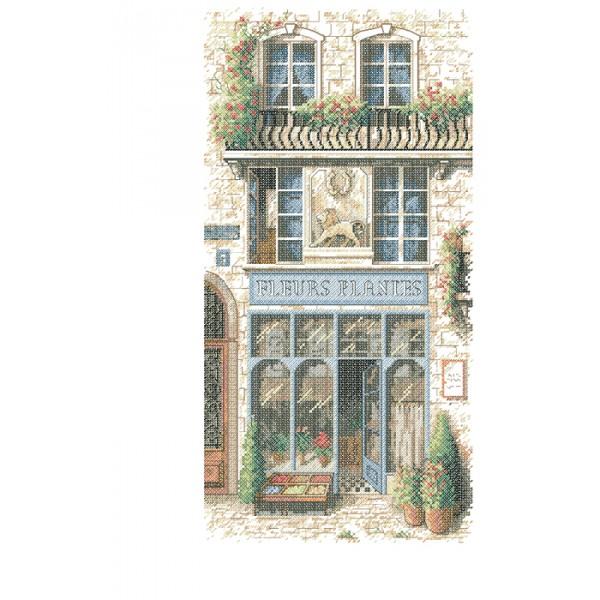 Sunset French Flower Shop  (Французский цветочный магазин).13704 СШАНабор для вышивания Sunset 13704  French Flower Shop  (Французский цветочный магазин)<br>
