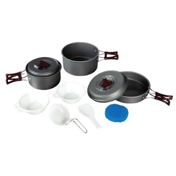 Набор посуды Tramp TRC-024Приобретая набор, Вы всегда найдете то, что может Вам понадобится во время отдыха на природе или в путешествии. Все предметы наборов очень легкие и компактно складываются друг в друга. Губка для мытья в комплекте позволит Вам без труда содержать всю посуду в чистоте. Наборы удобно упаковываются в мешочек из синтетической ткани.<br><br>Вес кг: 0.80000000