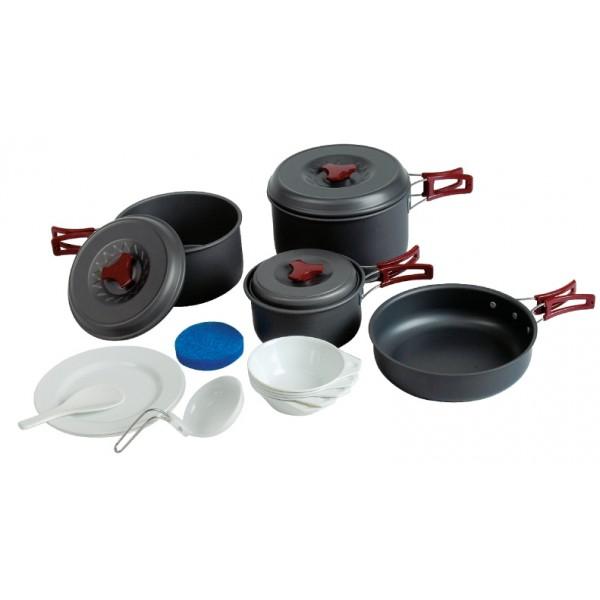 Набор посуды Tramp TRC-026Приобретая набор, Вы всегда найдете то, что может Вам понадобится во время отдыха на природе или в путешествии. Все предметы наборов очень легкие и компактно складываются друг в друга. Губка для мытья в комплекте позволит Вам без труда содержать всю посуду в чистоте. Наборы удобно упаковываются в мешочек из синтетической ткани.<br><br>Вес кг: 1.42000000