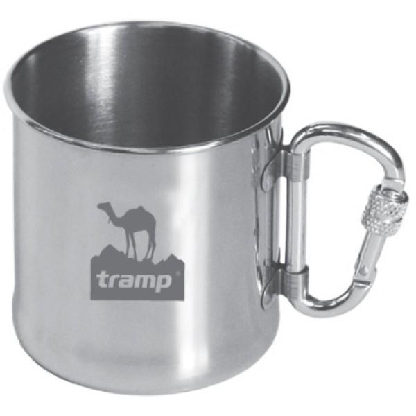Кружка Tramp TRC-012 с карабиномКружка легко пристегивается за карабин к поясу или к лямке на рюкзаке - никогда не потеряется. Ручка надежна прикреплена к корпусу с помощью точечной сварки. Полированная поверхность легко моется.<br>