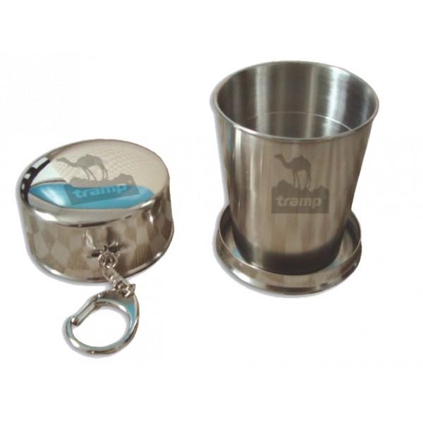Стакан Tramp TRC-068 складнойКомпактный складной стакан легко умещается в кармане. Благодаря карабину его можно повесить на ремень, либо подвесить с внешней стороны к рюкзаку.<br>