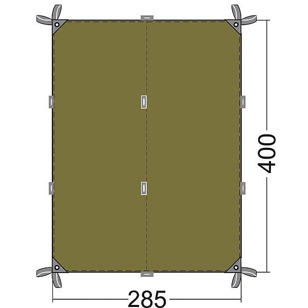 Тент Tatonka Tarp 4Универсальный тент на все случаи жизни. Может использоваться для защиты от дождя, ветра, солнца.<br>
