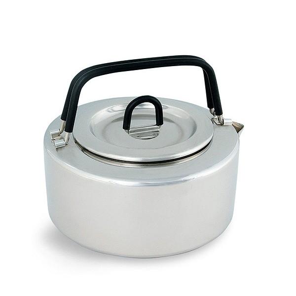 Чайник Tatonka Teapot 1.0lЧайник из нержавеющей стали с термоизолированными ручками и компактным дизайном. Замечательно подходит для использования дома и на выезде. В комплекте ситечко из нержавеющей стали<br><br>Вес кг: 0.40000000