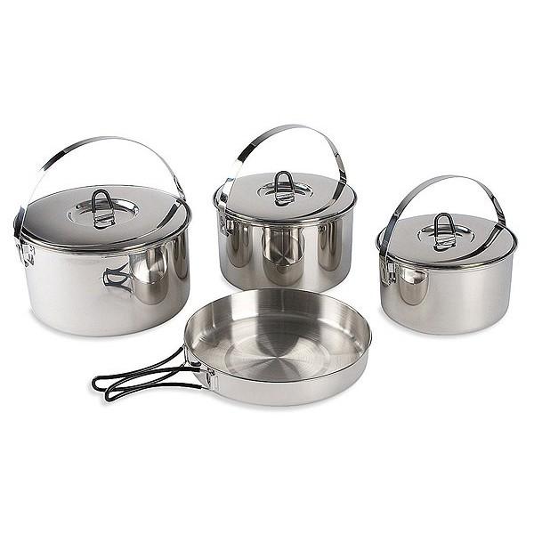 Набор посуды Tatonka Family Cookset L&amp;nbsp;<br><br>Набор посуды для большой компании. 4 предмета из нержавеющей стали. Складывается по принципу матрешки. Состоит из :<br><br><br>кастрюля 26х15 см, 6.0 л, 855 г,<br><br>кастрюля 23х14 см, 4,5 л, 720 г,<br><br>кастрюля 21х12,5 см, 3.1 л, 575 г,<br><br>сковорода 26х4.5 см, 376 г<br><br><br>Упакован в сетчатый мешочек.<br><br>&amp;nbsp;<br><br>Вес кг: 2.55000000