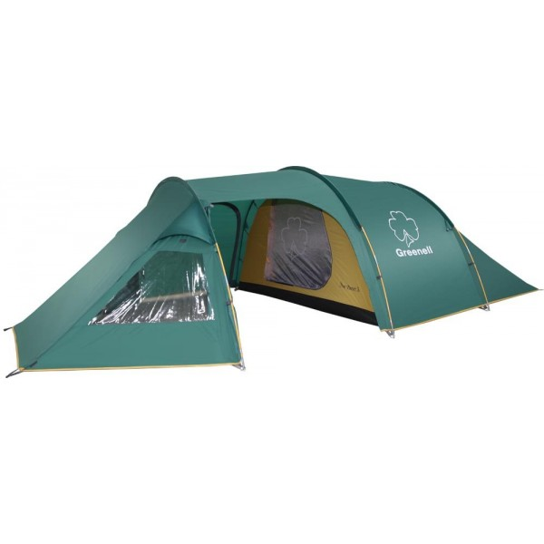 Палатка Greenell Арди 3 кемпинговаяКлассическая конструкция полубочкой. Имеет большую обитаемость и низкий вес. Три входа и большой тамбур. Одно спальное отделение. Большие окна. Возможна отдельная установка тента.<br><br>Вес кг: 6.16000000