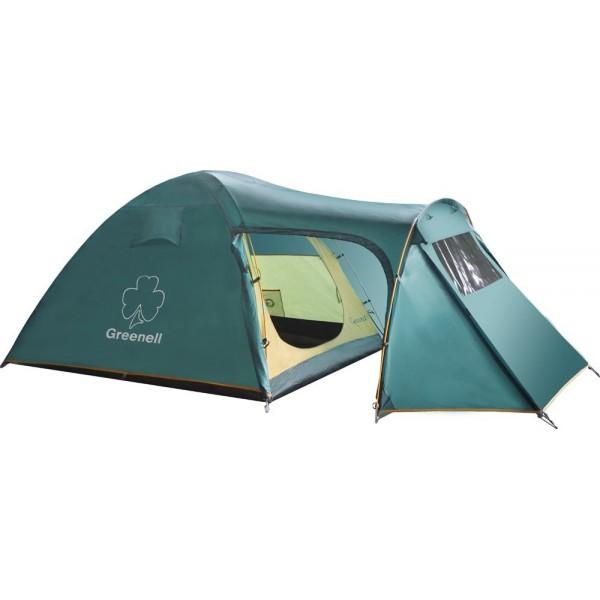 Палатка Greenell Каван 3 трекинговаяОтличная туристическая палатка Greenell Каван 3. Позволяет хранить багаж без ограничений. Есть куда складывать. Три входа и два тамбура, один большого размера. Внутреннее пространство тамбура увеличено дугой с заданным углом. Проклеенные швы усиливают конструкцию и позволяют избежать протеканий. Противомоскитная сетка защитит от насекомых. Внутри имеется подвесная полка и практичные карманы. Прозрачные окна обладают отличной светопропускаемостю.<br><br>Вес кг: 5.42000000