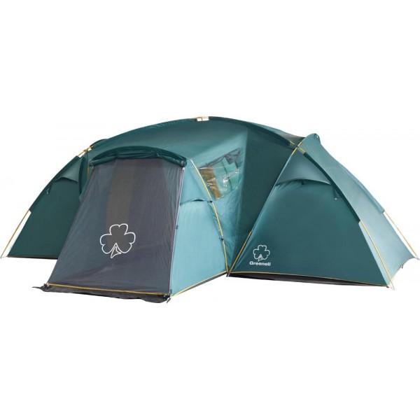 Палатка Greenell Виржиния 6 плюс кемпинговаяКомфортная кемпинговая палатка с двумя комнатами и увеличенным тамбуром. Два спальных отделения. Просторный тамбур с двумя входами. Эффективная система вентиляции. Возможна отдельная установка тента.Внимание! В комплектации нет стоек для тента<br><br>Вес кг: 13.80000000