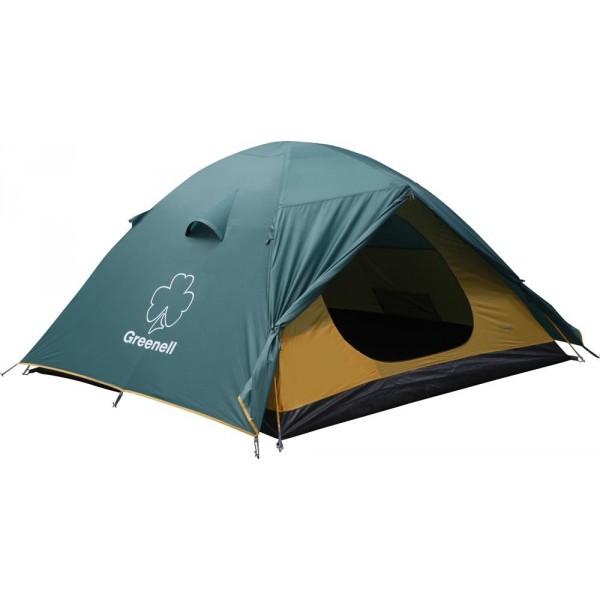 Палатка Greenell Гори 2 трекинговаяУниверсальная палатка для путешествий. Два входа и два тамбура. Проточная вентиляция.<br><br>Вес кг: 4.60000000