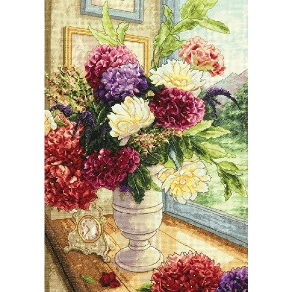 Dimensions Summer Bouquet (Летний букет). Китай.35328Набор для вышивания Dimensions 35328 Summer Bouquet (Летний букет)<br>
