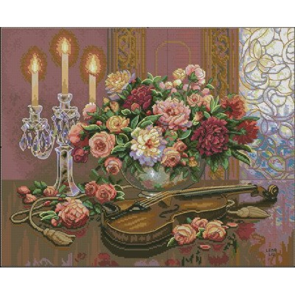 Dimensions Romantic Floral (Романтический букет). Китай.35185Набор для вышивания Dimensions 35185 Romantic Floral (Романтический букет)<br>