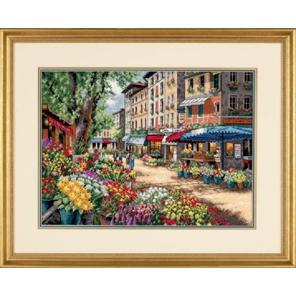 Dimensions Paris Market (Рынок в Париже). Китай.35256Набор для вышивания Dimensions 35256 Paris Market (Рынок в Париже)<br>