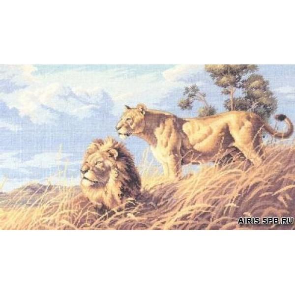 Dimensions Африканские львы. 3866Набор для вышивания Dimensions  Африканские львы. 3866<br>