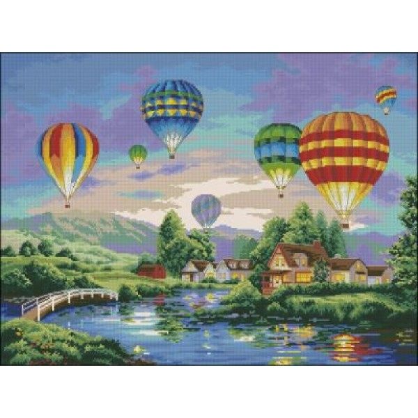 Dimensions Balloon Glow (Воздушные шары). Китай.35213Набор для вышивания Dimensions 35213 Balloon Glow (Воздушные шары)<br>