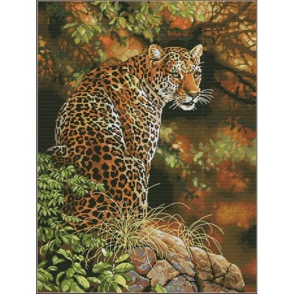 Dimensions Leopard's Gaze (Взгляд Леопарда). Китай.35209Набор для вышивания Dimensions 35209 Взгляд Леопарда<br>