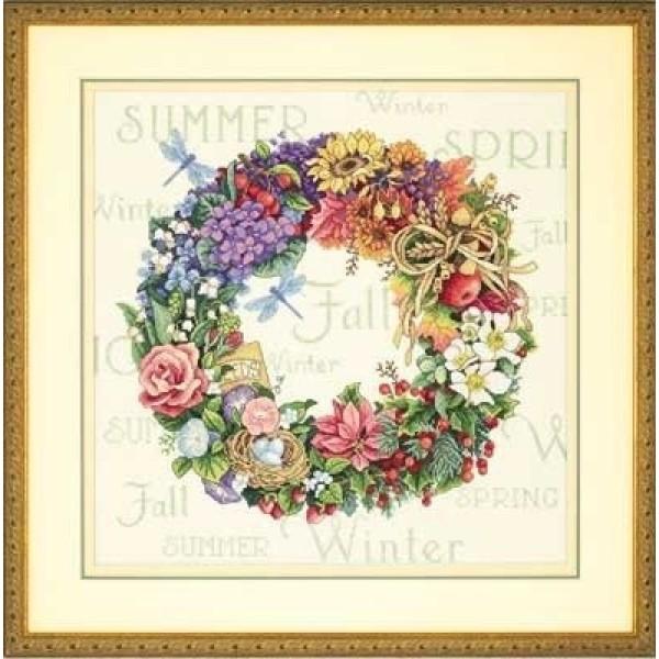 Dimensions Wreath of all Seasons (Венок Сезонов).35040 КитайНабор для вышивания Dimensions 35040 Wreath of all Seasons (Венок Сезонов)<br>