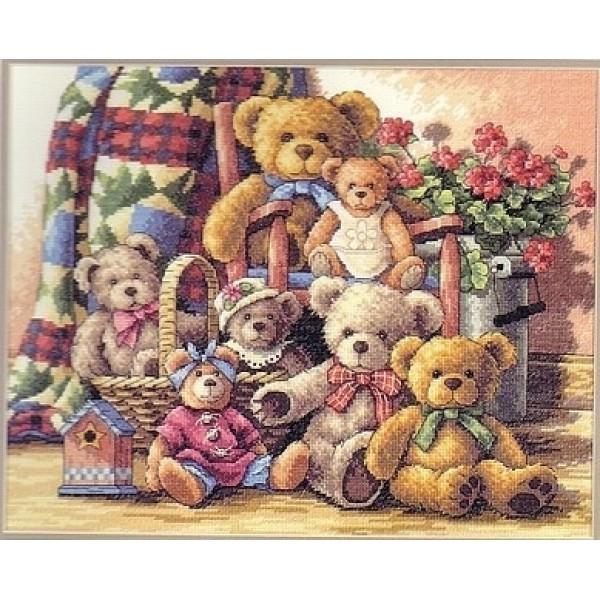 Dimensions Teddy Bear Gathering (Собрание мишек). Китай.35115Набор для вышивания Dimensions 35115 Teddy Bear Gathering (Собрание мишек)<br>