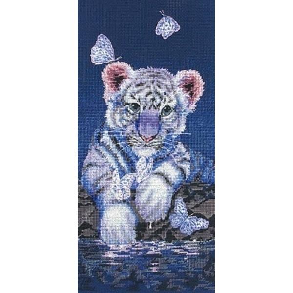 01165-5678000 Набор для вышивания MAIA Белый тигренокНабор для вышивания MAIA Белый тигренок<br>