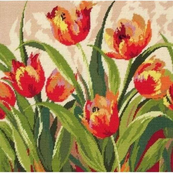 09009-5678000 Набор для вышивания MAIA Романтичные тюльпаныНабор для вышивания MAIA Романтичные тюльпаны<br>