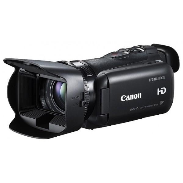 Видеокамера Canon LEGRIA HF G25видеокамера с 10x зумом, <br>запись видео Full HD 1080p на флэш-память, <br>матрица 2.37 МП (1/3), <br>карты памяти SD, SDHC, SDXC, <br>32 Гб встроенной флэш-памяти, <br>оптический стабилизатор изображения, <br>вес: 565 г<br><br>Вес кг: 0.60000000