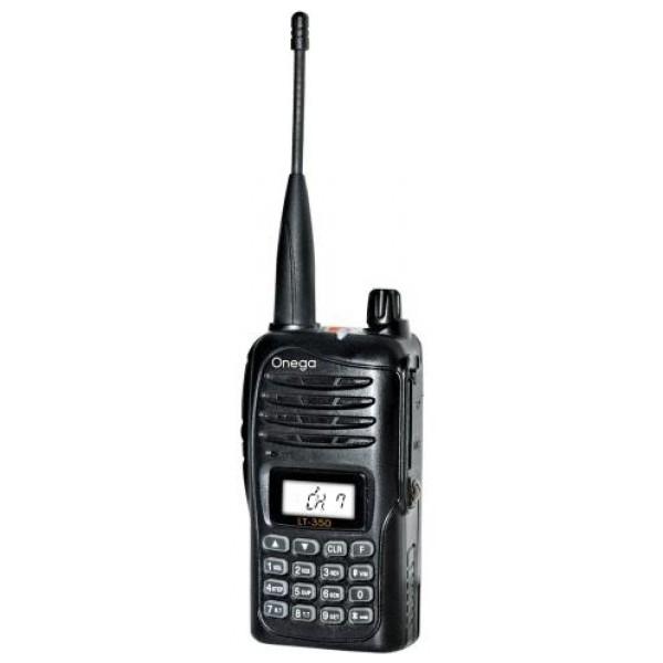 Радиостанция портативная Onega LT-350Портативная радиостанция речного диапазона Onega LT-350 выполнена в компактном прочном влагозащищённом корпусе по стандарту IP54 и создана для использования в неблагоприятных условиях окружающей среды, которые часто встречаются в области маломерного судоходства.<br><br>Вес кг: 0.20000000