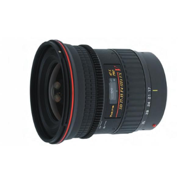 Объектив Tokina AT-X 17-35 f/4 PRO FX V Canon EFШирокоугольный зум-объектив, адаптированный для съёмки видео на зеркалки с сенсором APS-C<br><br>Объектив оснащён кольцом ручной фокусировки со специальной гребёнкой, которая используется в системах слежения при видеосъёмке. Данная модель предназначена для съёмки видео на зеркальные камеры. Для использования следящего фокуса, перед съёмкой кольцо фокусировки должно быть помещено в ручное положение. Однако, объектив может быть использован и для фотосъёмки с использованием автофокуса<br><br>Эксклюзивный механизм Tokina для переключения фокуса одним касанием позволяет фотографу переключаться между автоматической и ручной фокусировкой, просто перещёлкивая фокусировочное кольцо назад и вперёд для переключения между режимами фокусировки. Помимо видеографии объектив также отлично подходит для съёмки фотографий в самых сложных условиях<br><br>Тokina AT-X 17-35 PRO FX - это компактный широкоугольный объектив для полнокадровых камер, который превосходно подходит для видеографии.<br><br>Вес кг: 0.80000000