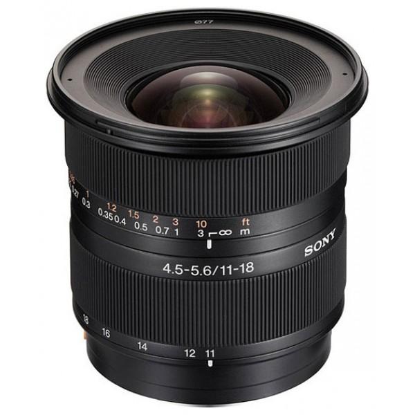 Объектив Sony DT 11-18mm f/4.5-5.6 (SAL-1118)широкоугольный Zoom-объектив, крепление Minolta A, для неполнокадровых фотоаппаратов, автоматическая фокусировка, минимальное расстояние фокусировки 0.25 м, размеры (DхL): 83x80.5 мм, вес: 360 г<br><br>Вес кг: 0.40000000