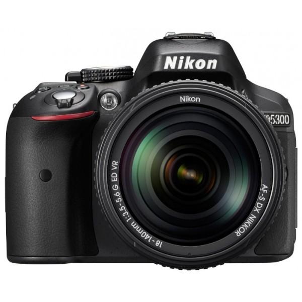 Фотоаппарат Nikon D5300 Kit 18-105mm f/3.5-5.6G ED VR зеркальныйлюбительская зеркальная фотокамера, поддержка сменных объективов с байонетом Nikon F, объектив в комплекте, матрица 24.78 мегапикселов (23.5 x 15.6 мм), съемка видео разрешением до 1920x1080, поворотный экран 3, Wi-Fi, GPS<br><br>Вес кг: 0.60000000
