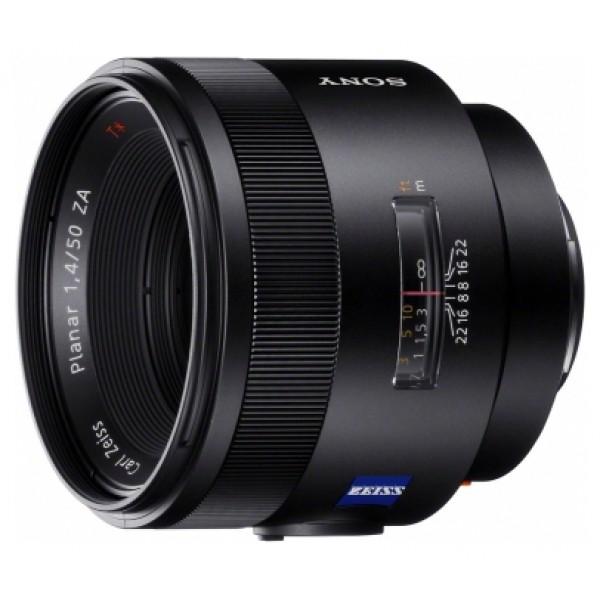 Объектив Sony Carl Zeiss Planar T* 50mm f/1.4 ZA SSM (SAL-50F14Z)стандартный объектив с постоянным ФР, крепление Minolta A, автоматическая фокусировка, размеры (DхL): 81x71.5 мм, вес: 518 г<br><br>Вес кг: 0.60000000
