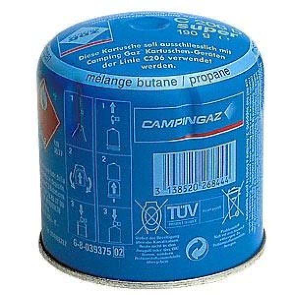 Газовый картридж Campingaz  C206 бутан/пропанГазовый картридж прокалываемого типа  для газового оборудования Campingaz®. Содержит 190 гр пропан-бутана.<br>