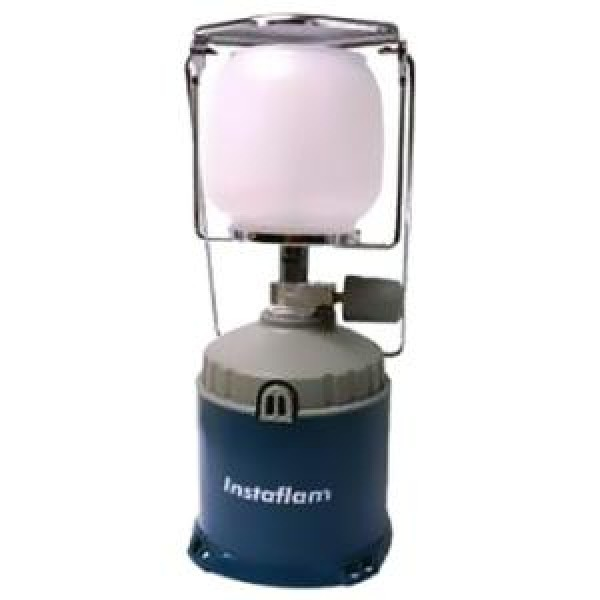 Лампа газовая Campingaz InstaflamГазовая лампа INSTAFLAM: мощность: 80 Вт; время работы на 1 газовом картридже прокольного типа C 206: 6-10 ч.; регулировка подачи газа; плафон и ручка для удобства переноски<br>