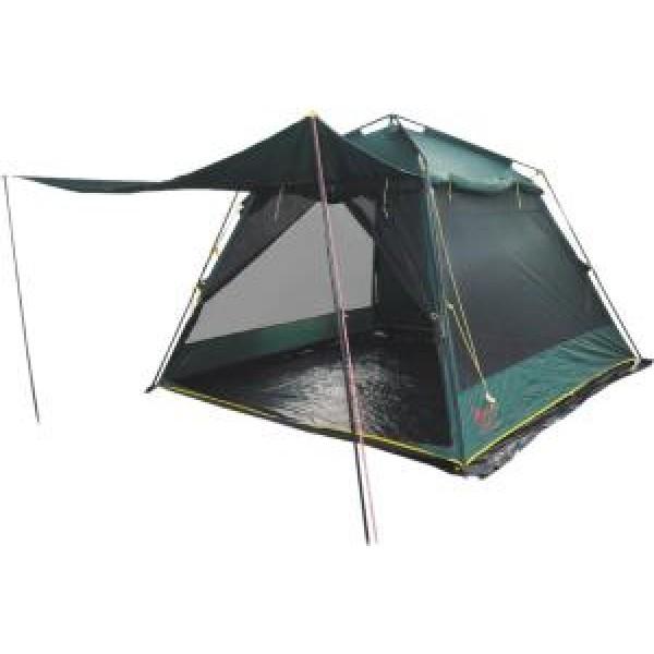 Тент-шатер Tramp Bungalow Lux GreenПалатка-шатер с двумя входами. Ткань палатки устойчива к ультрафиолетовому излучению. Ткань палатки имеет пропитку, задерживающую распространение огня. Тент оборудован юбкой. Удобные большие размеры. Съемный пол из терпаулинга<br><br>Вес кг: 7.20000000