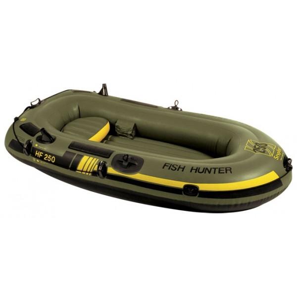 Лодка надувная Sevylor HF250 Fish hunter 2-х местнаяSevylor 204718 HF250 Fish hunter моторно-гребная лодка, двухместная, длина лодки 232 см, из ПВХ, грузоподъемность 220 кг, мотор до 2.5 л.с., якорный рым<br><br>Вес кг: 8.50000000