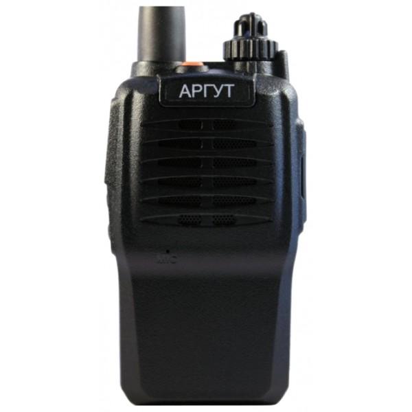 Радиостанция Аргут А-23 new портативнаярация UHF, диапазон частот 400-470 МГц, мощность передатчика 4 Вт, вес 205 г, количество каналов 16, поддержка кодирования CTCSS, DCS, подключение гарнитуры<br><br>Вес кг: 0.30000000