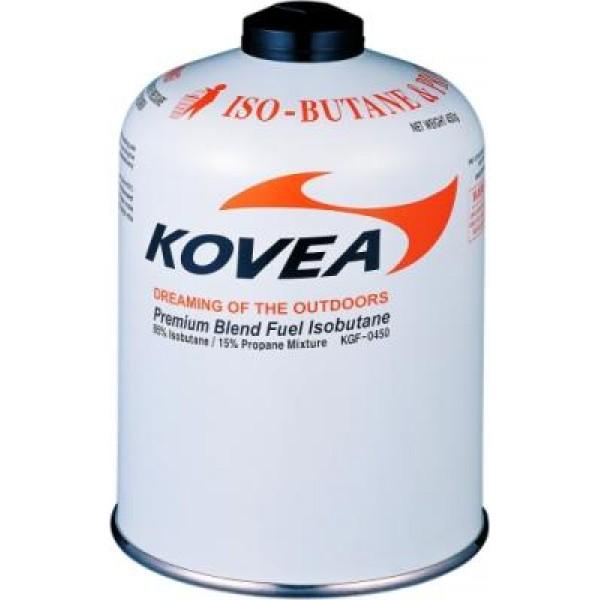 Газовый картридж Kovea 450, KGF-0450Газовый картридж 450 г, производства KOVEA. Баллон наполнен высокопроизводительной газовой изо-пропановой смесью составом: изобутан 72%\пропан 22%\бутан 6%. Температура использования до -23°<br><br>Вес кг: 0.50000000