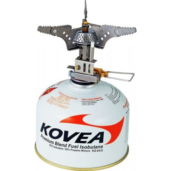 Горелка газовая Kovea KB-0101 титановаяГорелка газовая компактная Kovea КВ-0101 – это сверх легкая и сверх компактная горелка, изготовленная из современного авиационного титанового сплава. Данный материал отличается высокой прочностью и легкостью. Благодаря этим качествам, газовая горелка из титана стала пользоваться широкой популярностью среди альпинистов и скалолазов, у которых на учете каждый грамм снаряжения. Конструкцией предусмотрена функция пъезоподжига, что особенно ценно в экстремальных условиях, где зачастую нет возможности воспользоваться спичками или зажигалкой. Горелка устроена таким образом, что почти все тепло уходит на подогрев воды в кастрюле. В горелках других фирм основная мощность уходит на обогрев окружающего ландшафта.<br><br>Вес кг: 0.10000000