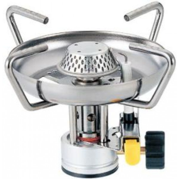 Горелка газовая Kovea KB-0410Большая головка и широкие лапки конфорки позволяют ставить на нее большую посуду и готовить пищу на несколько человек. Горелка надежна и достаточно проста в эксплуатации.<br><br>Вес кг: 0.20000000