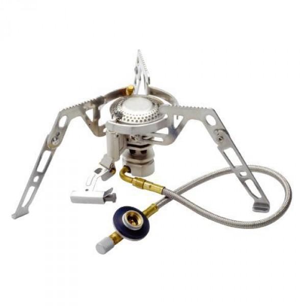 Горелка газовая Kovea KB-0211L с длинным шлангомГазовая горелка со шлангом и предварительным подогревом газа (Anti-Flare System). Горелка компактно складывается в пластиковый кофр для транспортировки; имеет пъезо-поджиг и специальную сетку в головке против задувания ветром.<br><br>Вес кг: 0.40000000