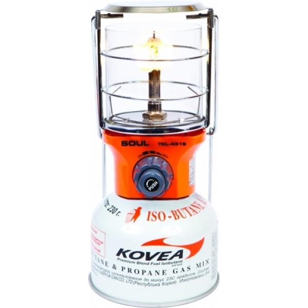Лампа газовая Kovea TKL-4319Газовая лампа Kovea TKL-4319 Soul Gas Lantern среднего размера с пъезоподжигом. Это вариант газовой лампы для кемпинга, когда на улице холодно и в качестве топлива можно использовать только резьбовые газовые баллоны. По уровню освещения газовая лампа способна осветить как палатку, так и стоянку на несколько человек или пространство под тентом.<br><br>Вес кг: 0.50000000