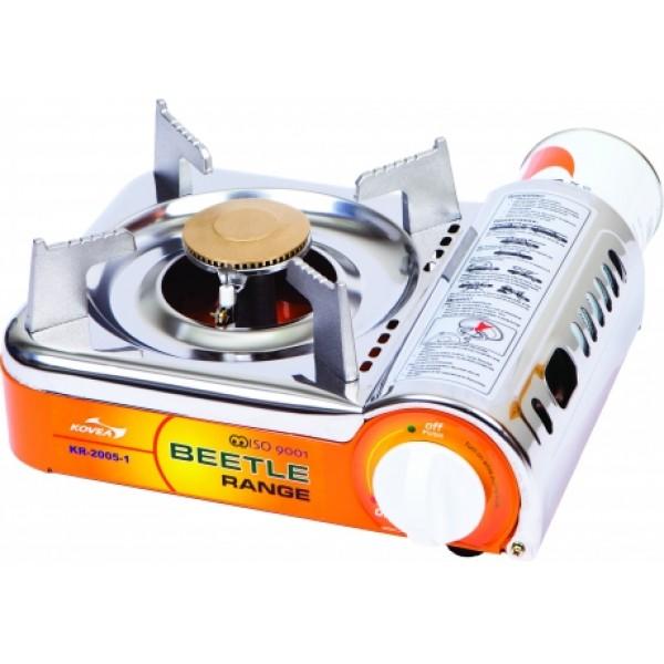 Плита газовая Kovea KR-2005 миниВерхняя панель газовой плиты выполнена из полированной нержавейки, благодаря чему прекрасно моется. Газовая плита имеет предохранительный клапан избыточного давления в газовом баллоне. Если газовый баллон перегреется и давление повысится выше допустимого, подача газа сразу же прекратится. Возобновить работу газовой плиты можно, нажав красную кнопку на редукторе.<br><br>Вес кг: 1.10000000